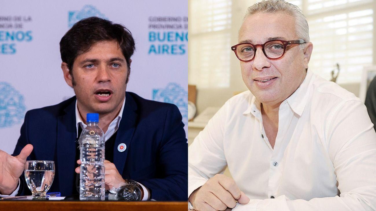 El gobernador bonaerense Axel Kicillof y el intendente de Tigre, Julio Zamora.