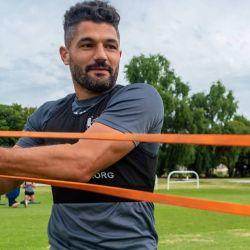 Talleres pretende volver a los entrenamientos al aire libre con un protocolo de seguridad. // Prensa Talleres