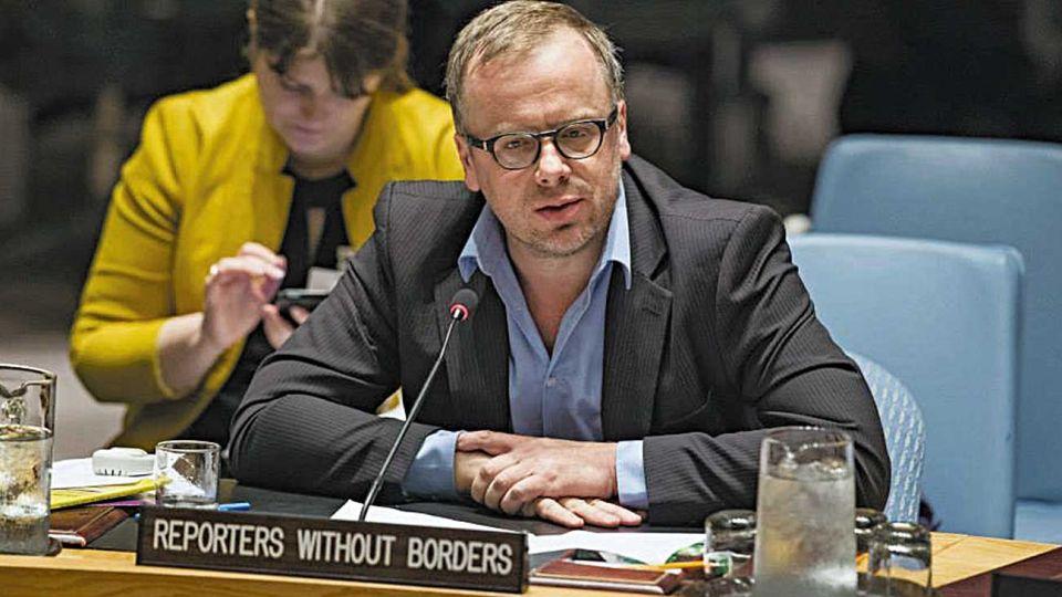 Christophe Deloire. Advertencias y reclamo de Reporteros sin Fronteras a la ONU.