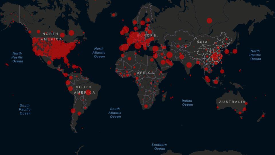 América Latina superó los 100.000 contagios el 19 de abril de 2020.
