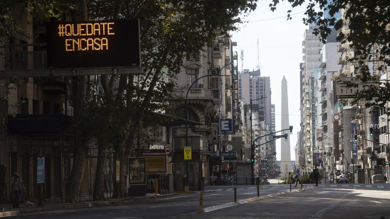 Ciudad de Buenos Aires, bajo aislamiento social.