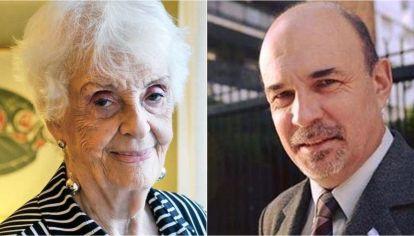 Graciela Fernández Meijide y Eduardo Lazzari.