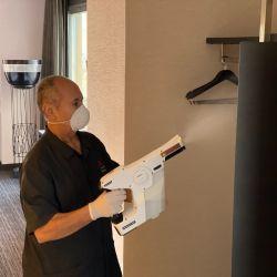 Así desinfectarán a partir de ahora en todos los hoteles de las marcas que integran el portfolio de Marriott.