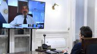 Buenos Aires: Videoconferencia entre Sergio Massa y Roberto Salvarezza 20200421