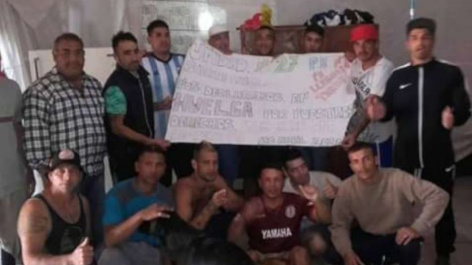 2020 04 21 Sierra Chica Presos Huelga de hambre
