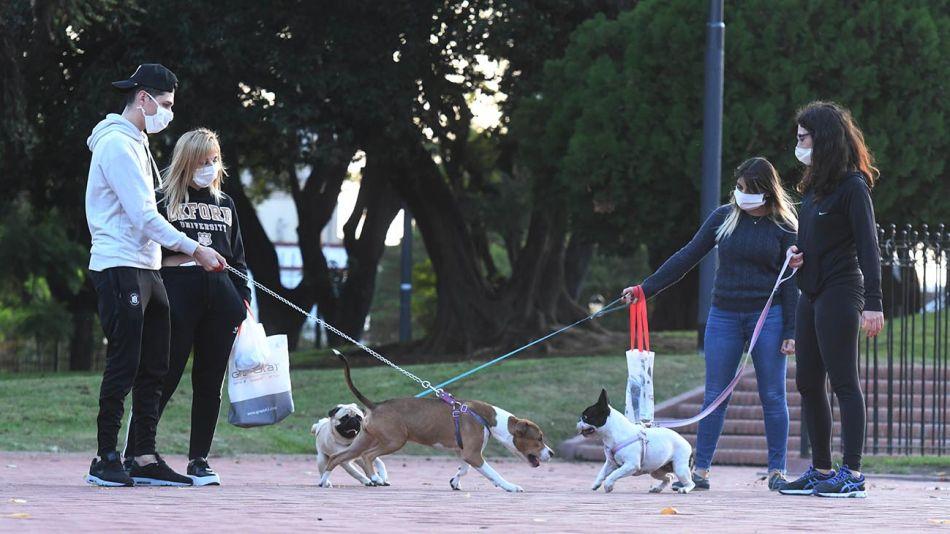 Buenos Aires: El paseo de las mascotas por el parque Chacabuco 20200421