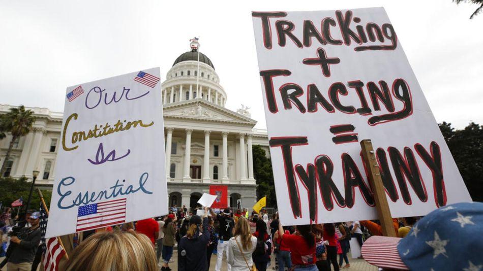EEUU: Protestas en reclamo por el fin del confinamiento y subsidio por desempleo