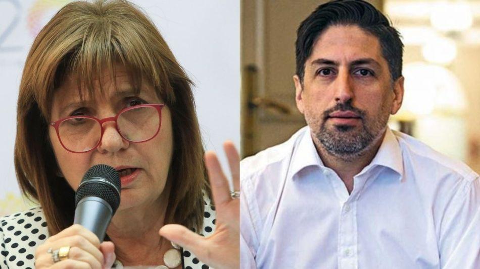 Patricia Bullrich y Nicolás Trotta.