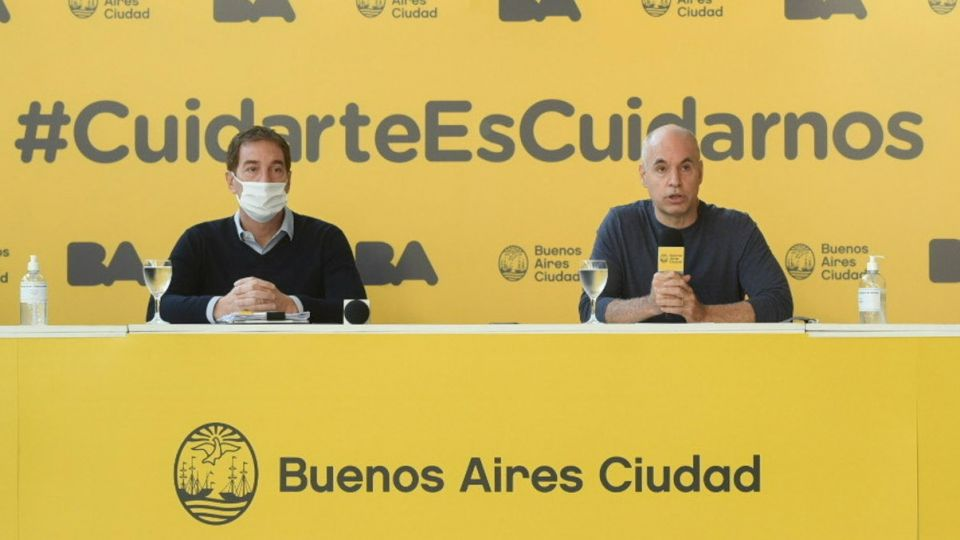 Horacio Rodríguez Larreta y Diego Santilli.