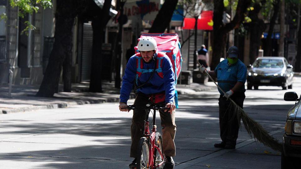 Mendoza. El servicio de delivery se popularizó aún más a raíz de la pandemia por la COVID-19.