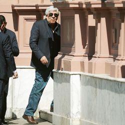 Hugo Moyano ingresando a la Rosada | Foto:cedoc