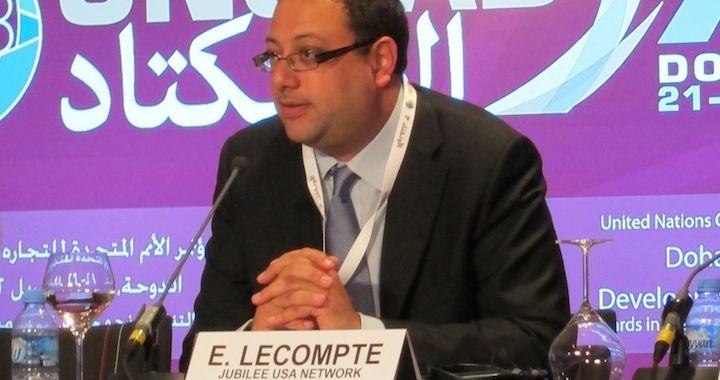 Eric LeCompte, titular de Jubilee USA, una ONG que pide condonar la deuda.