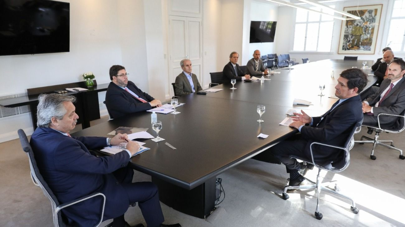 El presidente Alberto Fernández recibió a representantes de la industria farmacéutica.