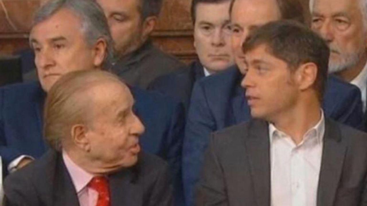 Carlos Menem y Axel Kicillof | Foto:cedoc