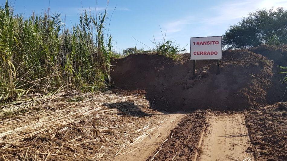 Caminos bloqueados en San Luis