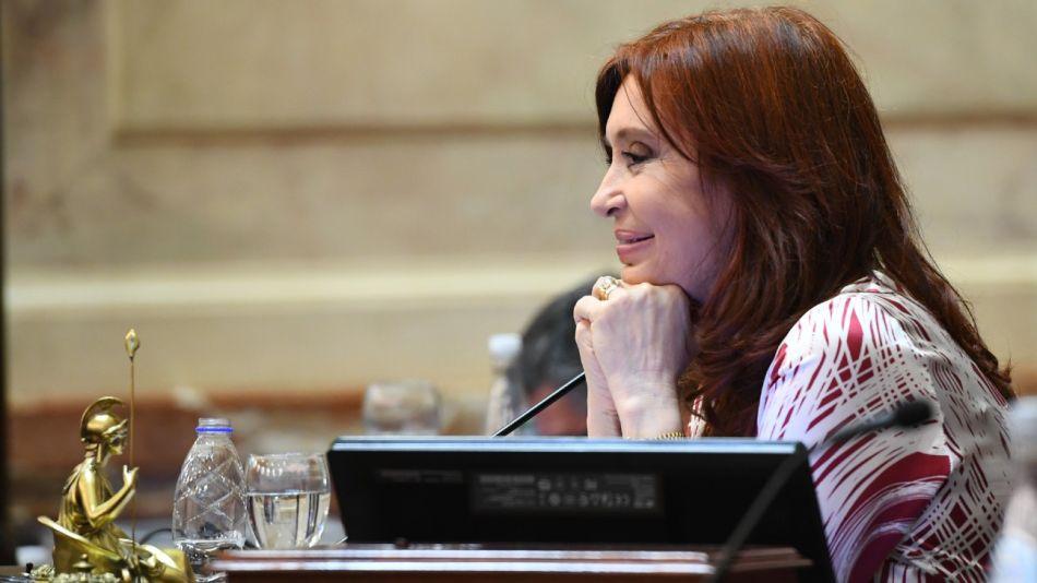 La vicepresidenta Cristina Fernández de Kirchner