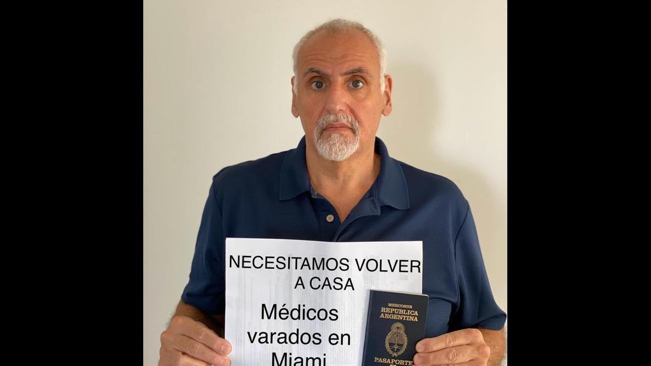 Algunas de las fotos que se encuentran en las redes sociales de Argentinos varados