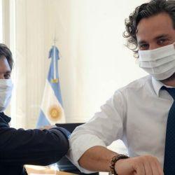 Axel Kicillof con Santiago Cafiero   Foto:Cedoc