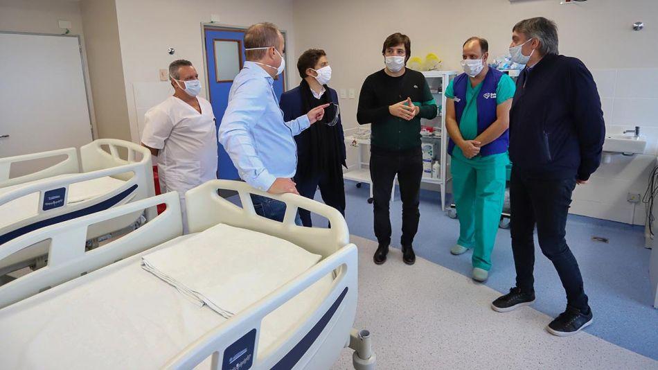 El gobernador de la provincia de Buenos Aires, Axel Kicillof, en la inauguración de una nueva Unidad de Terapia Intensiva 20200423