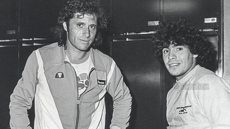 Maradona y Vilas en una foto en el recuerdo
