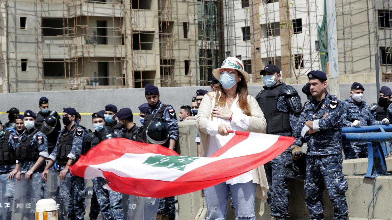 Caos financiero y protestas en Beirut, Líbano durante la pandemia