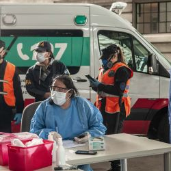 En la estación de trenes de Constitución se toman muestras de sangre para diferentes estudios breves asociados al Covid-19   Foto:Juan Ferrari