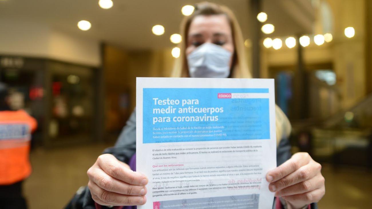 Test rápidos de Coronavirus en Constitución a voluntarios.