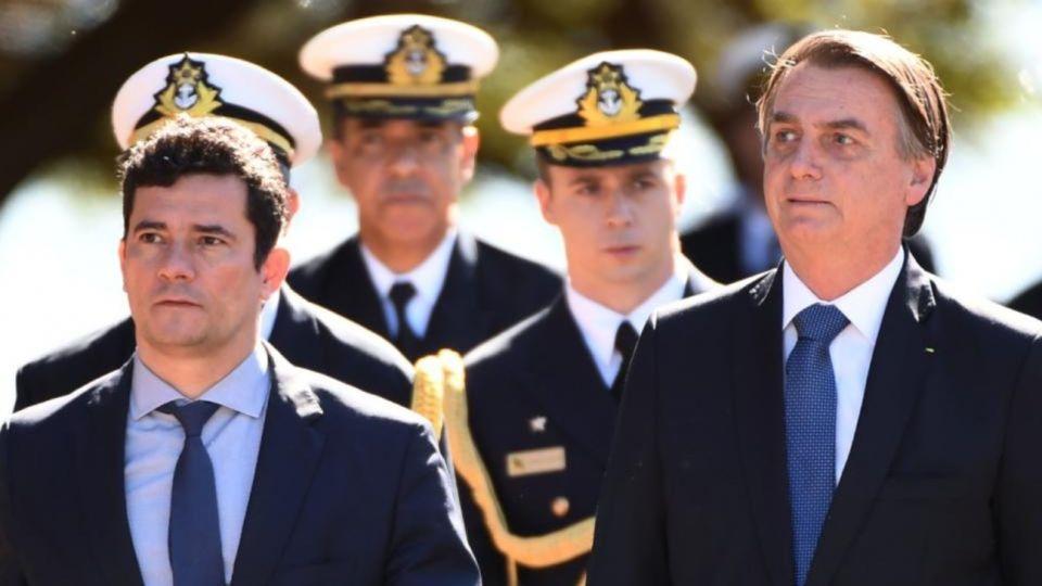 Sergio Moro y Jair Bolsonaro.