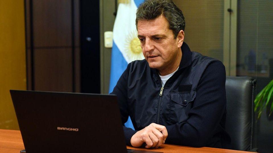 Titular de la Cámara de Diputados, Sergio Massa.