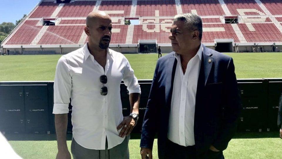 Juan Sebastián Verón y Claudio Tapia