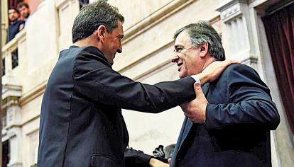 Cruzados. El titular de la Cámara y el jefe del bloque opositor.