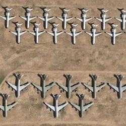 Cementerio de aviones ubicado en Arizona, EE.UU.