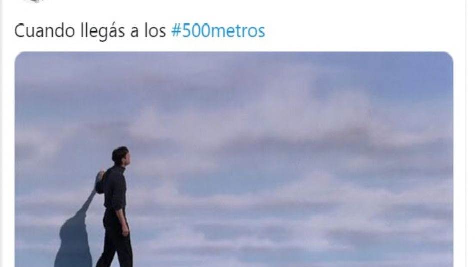 Memes sobre las salidas de 500 metros