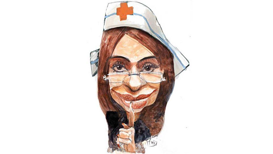 'Lo importante es la salud...' Cristina Fernández.