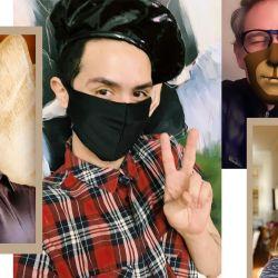 12 creadores con barbijo.