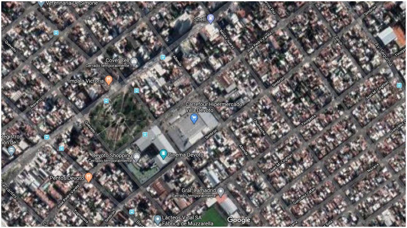 El geriátrico está ubicado en el barrio porteño de Villa Devoto, en la calle Allende al 2900.