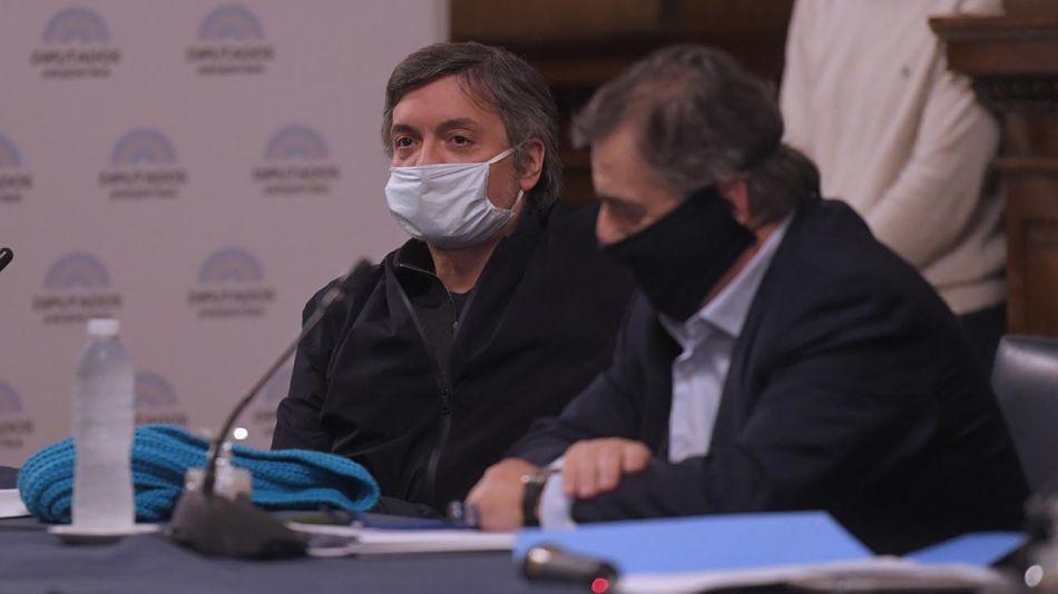 Buenos Aires: Sergio Massa con los bloques por sesiones virtuales 20200427