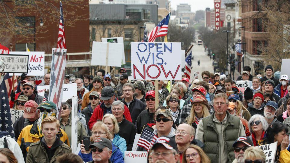 Estados Unidos: Protestas de grupos conservadores contra las medidas de quedarse en casa