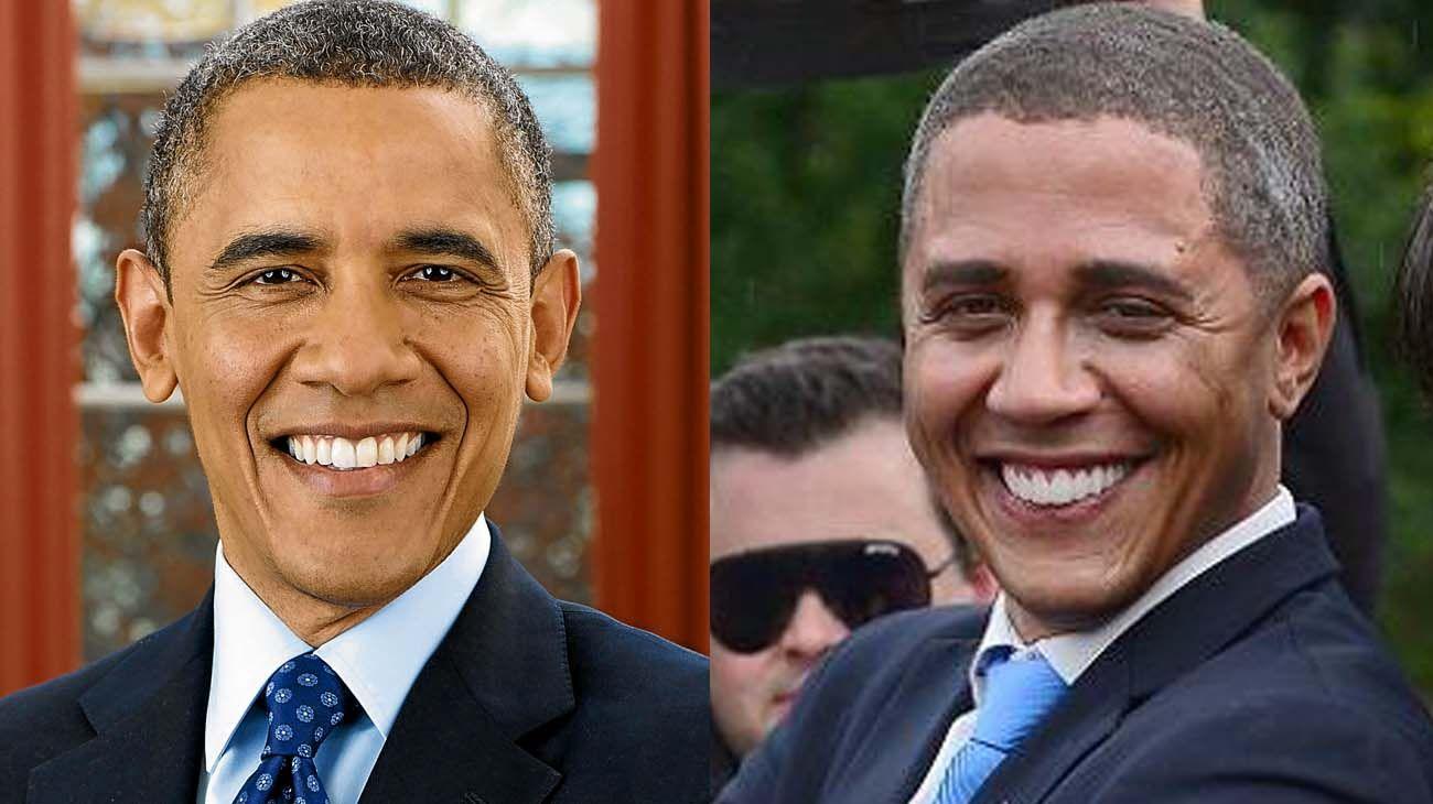 Barack Obama y su imitador