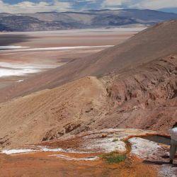 Vista del salar desde el Cono de Botiquela.
