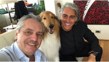 Alberto Fernández junto a Marco Enriquez Ominami.