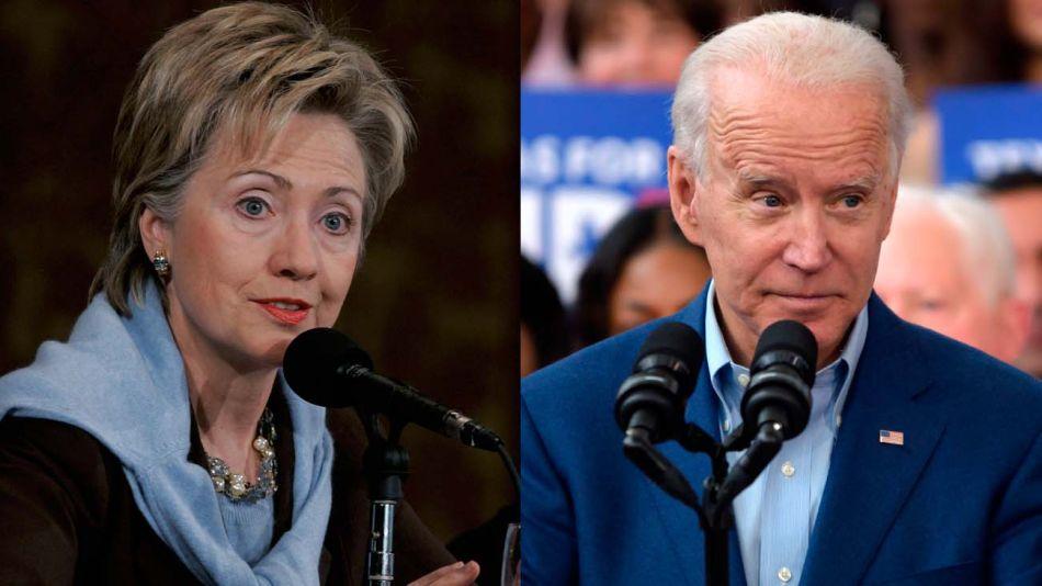 Hillary Clinton y Joe Biden20200428