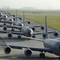 El equipo de ingenieros de la Fuerza Aérea de EE. UU. hizo un análisis computacional de la mecánica de fluidos del KC-135 Stratotanker.