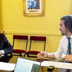 Martín Guzmán y Santiago Cafiero | Foto:cedoc