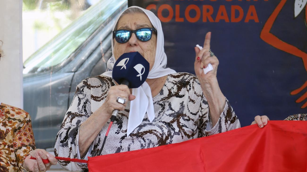 La titular de Madres de Plaza de Mayo, Hebe Pastor de Bonafini