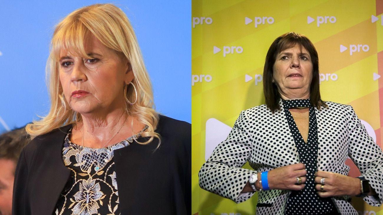 La ministra de Justicia, Marcela Losardo, y la presidenta del PRO, Patricia Bullrich.