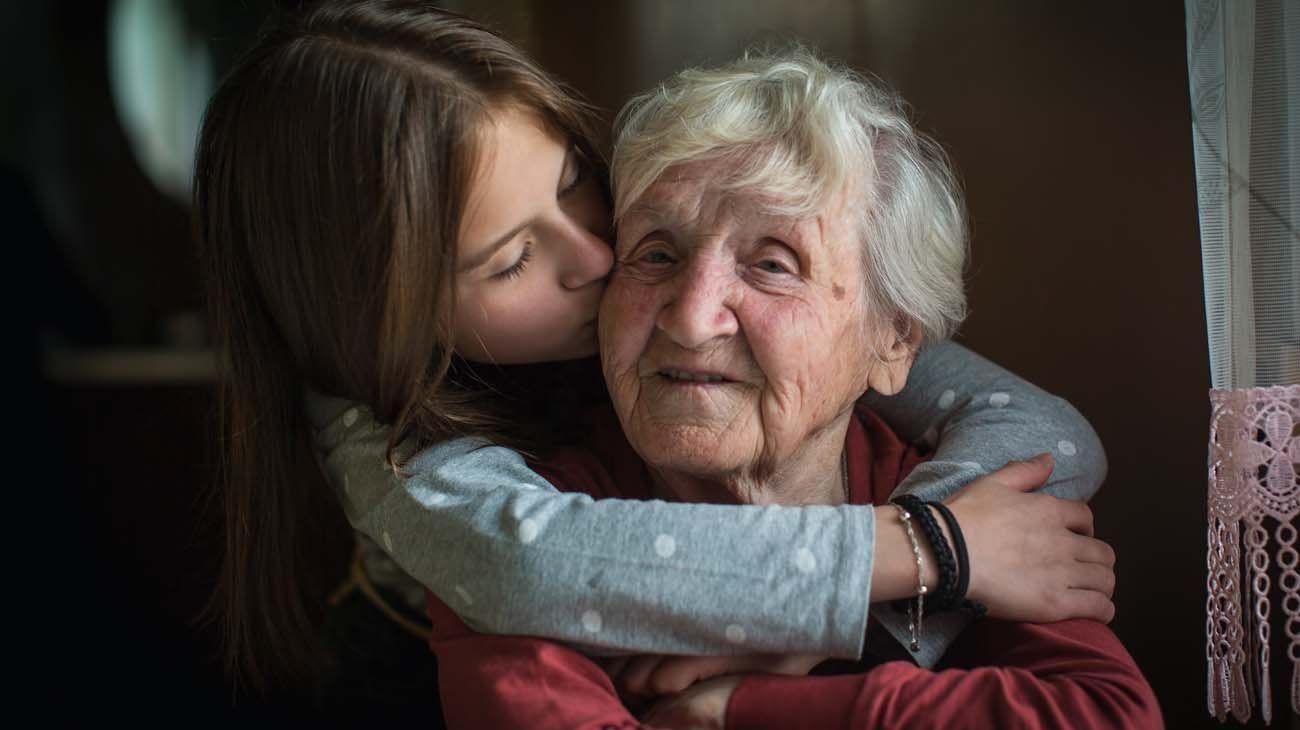 Niños con abuelos