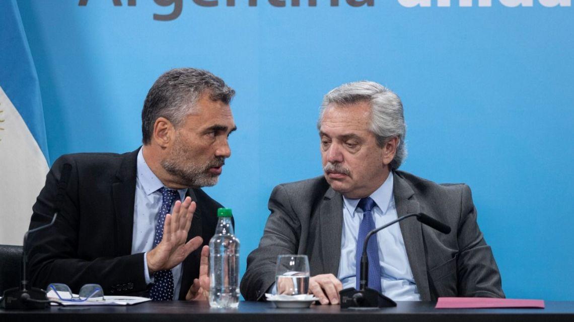 President Alberto Fernández and Alejandro Vanoli.