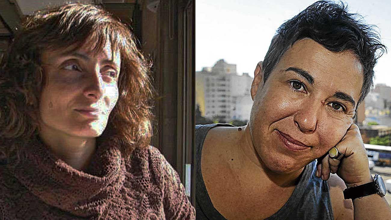 Libres o libros. (Izq.) Selva Dipasquale, poeta creadora de la página Libros Virtuales. (Der.) La escritora Gabriela Cabezón Cámara.
