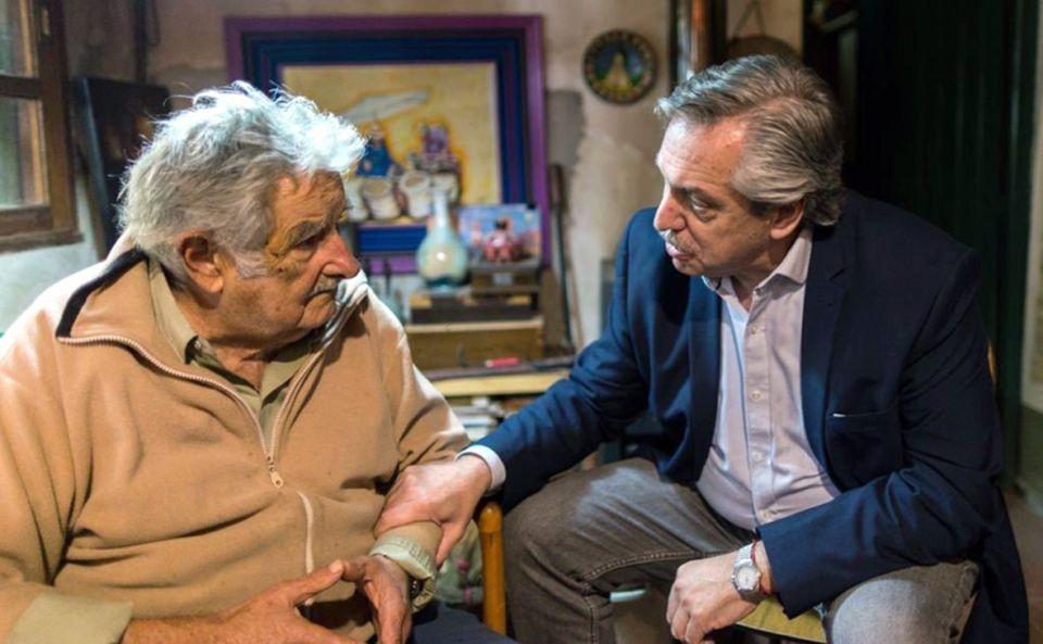 Jose Pepe Mujica y Alberto Fernandez